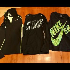 Nike long sleeve and lightweight hooded swearshirt